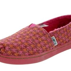 Toms Kids Classic Houndstooth Casual Shoe