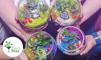 Terrarium and Garden-Making Social Event from Plant Nite in Local Bars