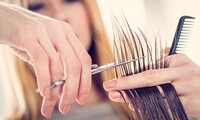 Cut, Color, and Keratin Packages at Leeba Salon (Up to 59% Off). Four Options Available.