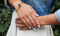 One or Two Manicure Packages or Short Full Set of Acrylic Nails with Basic Polish at Adore Salon (Up to 54% Off)