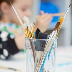 Kids' Paint and Pizza for One or Two Kids at Monet Gogh Sip & Spa (Up to 53% Off)