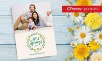"Professional Photo Session with 36, 60, or 84 5""x7"" Premium Cards at JCPenney Portraits (Up to 79% Off)"