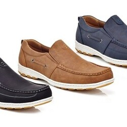 Solo Men's Lace-Up or Slip-On Boat Shoes