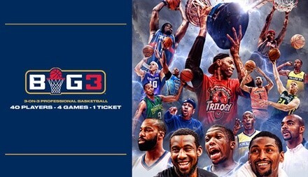 BIG3: 3-on-3 Professional Basketball on Friday, June 22, at 6:30 p.m.