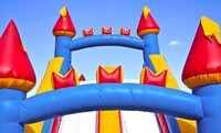 One-Day Rental of Bounce House or Castle with Slide and Optional Bubble Machine from All In Fun (Up to 51% Off)